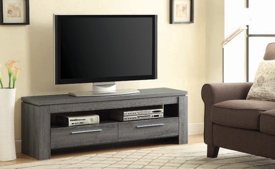 2-drawer TV Console Weathered Grey - Hover