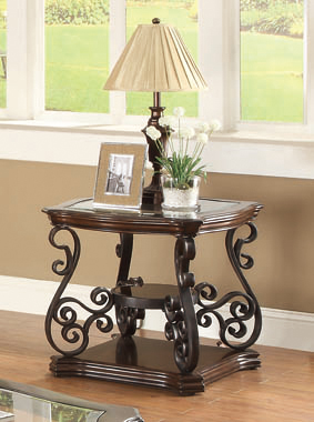 Sir Rawlinson End Table Deep Merlot and Clear - Hover