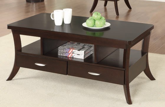 2-drawer Coffee Table Espresso - Hover