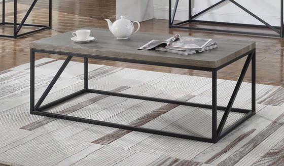 Rectangular Coffee Table Sonoma Grey - Hover