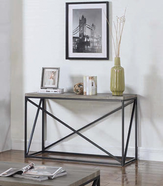 Rectangular Sofa Table Sonoma Grey - Hover