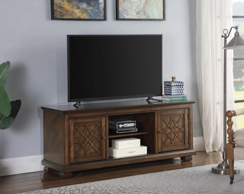 2-door TV Console Golden Brown - Hover