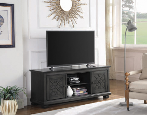 2-door TV Console Rustic Grey - Hover