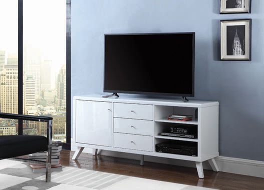 1-door TV Console High Glossy White - Hover