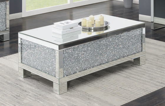Rectangular Coffee Table Clear Mirror - Hover
