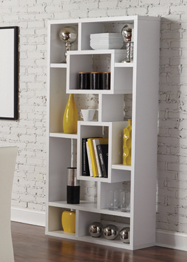 10-shelf Bookcase White - Hover
