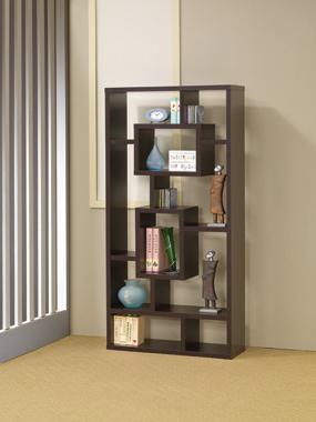 10-shelf Bookcase Cappuccino - Hover