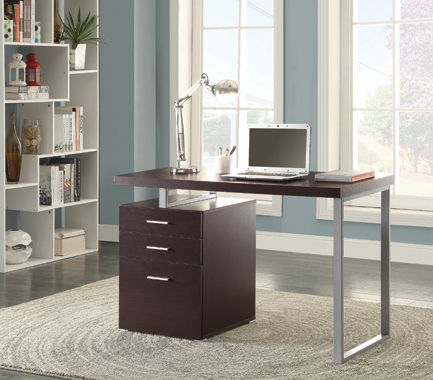 Brennan 3-drawer Office Desk Cappuccino - Hover
