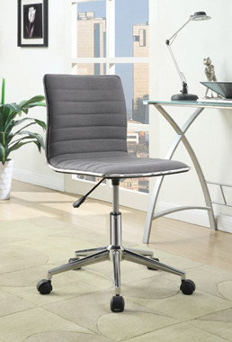 Adjustable Height Office Chair Grey and Chrome - Hover