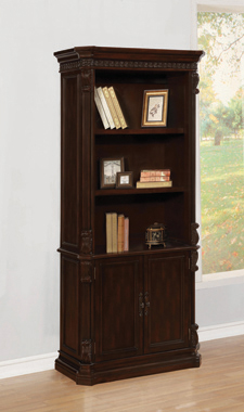 3-tier Bookcase with Storage Base Rich Brown - Hover