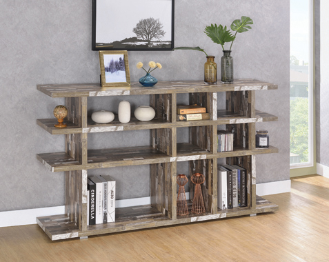 3-tier Open Bookcase Salvaged Cabin - Hover