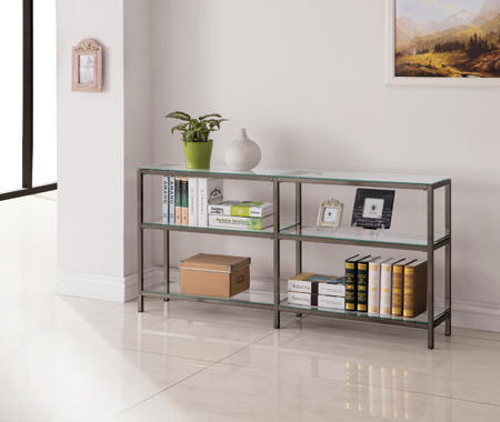 2-tier Bookcase Black Nickel - Hover