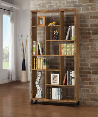 10-shelf Bookcase Antique Nutmeg - Hover