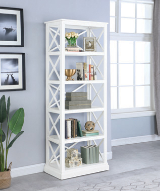 Johansson 5-shelf Bookcase Antique White - Hover