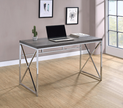 Vera Rectangular Writing Desk Weathered Grey - Hover