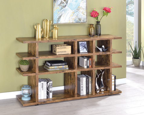 3-tier Bookcase Antique Nutmeg - Hover