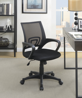 Mesh Back Office Chair Black - Hover
