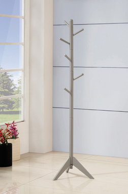 Coat Rack with 6 Hooks Grey - Hover