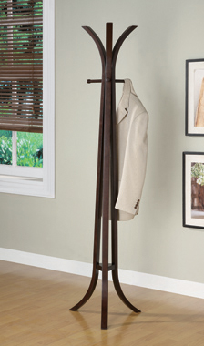 Coat Rack with 6 Hooks Cappuccino - Hover