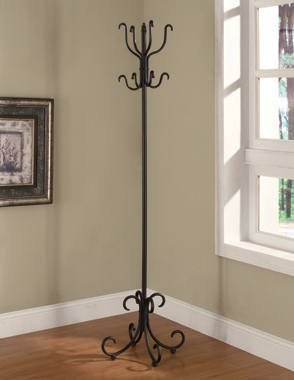 Coat Rack with Curved Feet Black - Hover