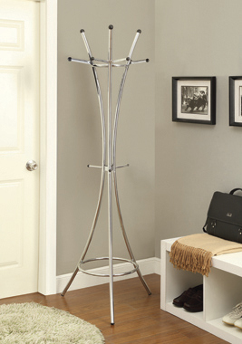 12-Hook Coat Rack Chrome - Hover