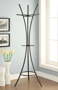 12-Hook Coat Rack Black - Hover