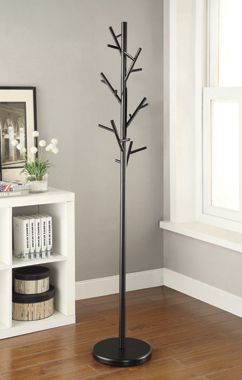 18-Hook Coat Rack Black - Hover