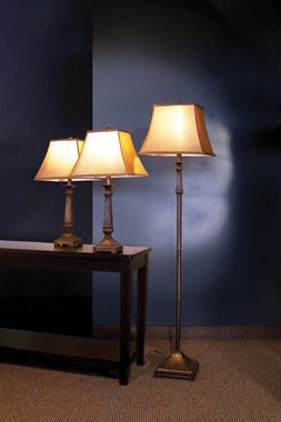 3-piece Lamp Set Brown and Beige