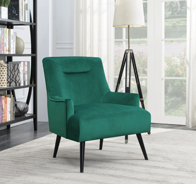 Upholstered Accent Chair Green and Black - Hover