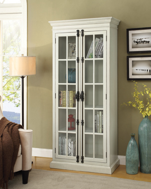 2-door Tall Cabinet Antique White - Hover