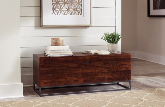Rectangular Accent Bench Cinnamon - Hover