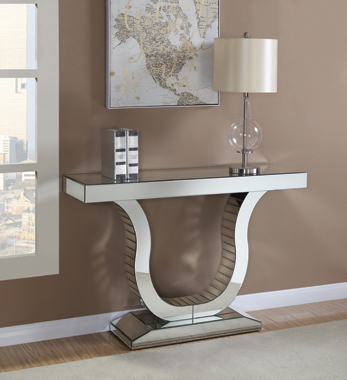 Console Table with U-shaped Base Clear Mirror - Hover