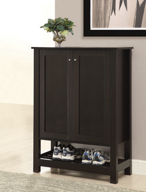 2-door Rectangular Shoe Cabinet Cappuccino - Hover