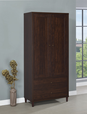 2-door Tall Accent Cabinet Rustic Tobacco - Hover