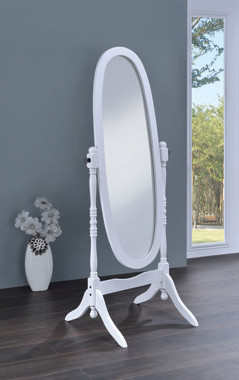 Oval Cheval Mirror White - Hover