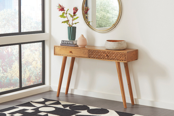2-drawer Console Table Natural Brown - Hover