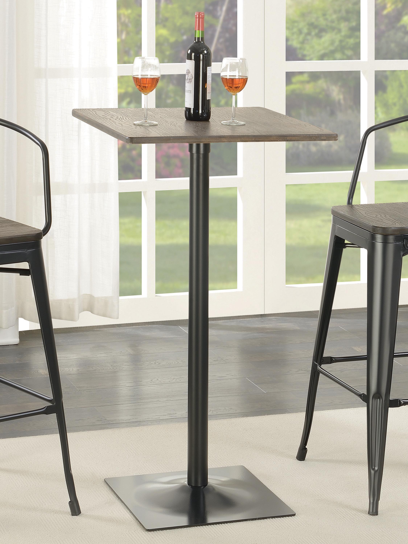 Square Bar Table Dark Elm And Matte Black Coaster Fine Furniture