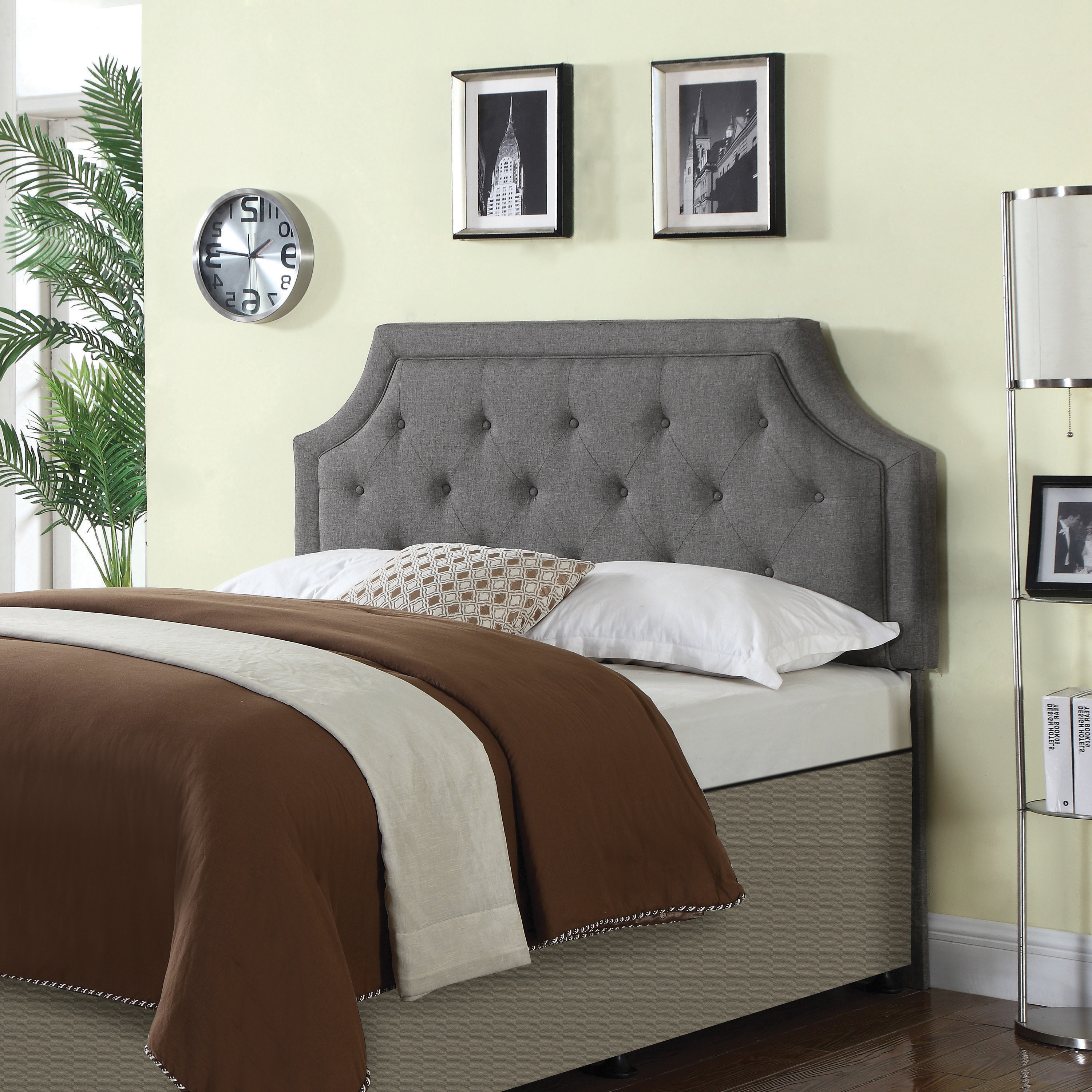 Picture of: Rutherford Queen And Full Tufted Upholstered Headboard Grey Coaster Fine Furniture