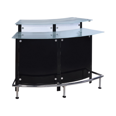 Glass Top Bar Unit Black