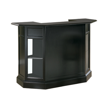 2-door Bar Unit Black and Clear