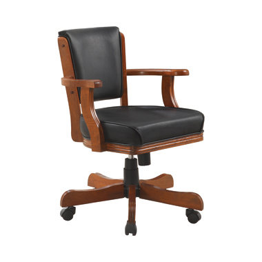 Mitchell Upholstered Game Chair Chestnut and Black