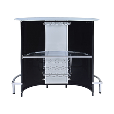 1-shelf Bar Unit Glossy Black and White