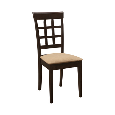 Gabriel Lattice Back Side Chairs Cappuccino and Tan (Set of 2)