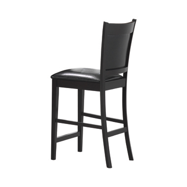 Jaden Upholstered Counter Height Stools Black and Espresso (Set of 2)