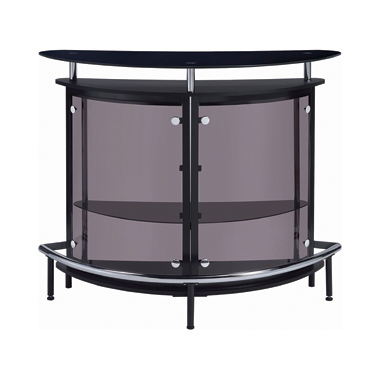 2-tier Bar Unit Black and Chrome