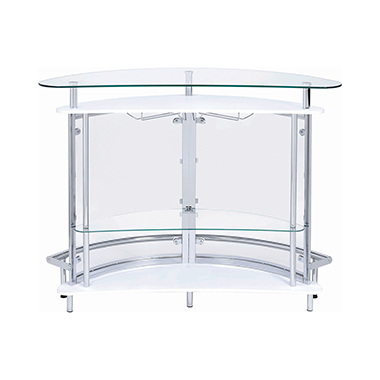 2-tier Bar Unit White and Chrome