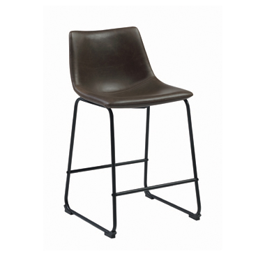 Armless Counter Height Stools Two-tone Brown and Black (Set of 2)