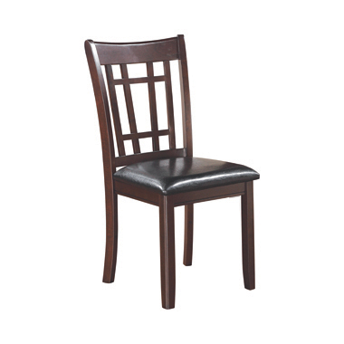 Lavon Padded Dining Side Chairs Espresso and Black (Set of 2)