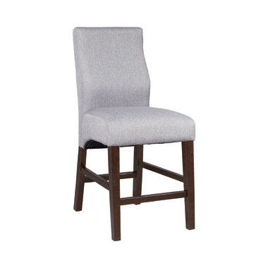 Lampton Upholstered Counter Height Stools Grey and Cappuccino (Set of 2)
