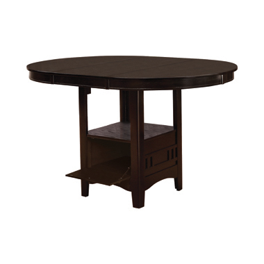 Lavon Oval Counter Height Table Espresso